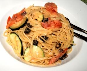 Spaghetti mit Pfeffersalami