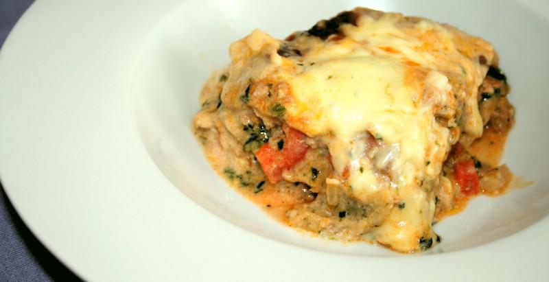 Lasagne mit Spinatsoße