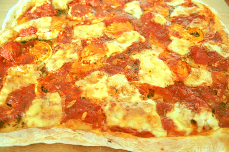 Auberginen Pizza