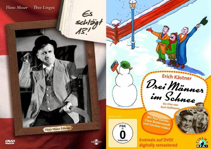"""DVDs: """"Jetzt schlägt's 13!"""" und """"Drei Männer im Schnee"""""""