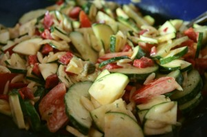 Salat mit Kritharaki